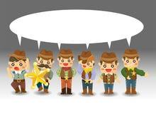 Cartoon cowboy card Stock Photos