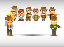 Cartoon cowboy card Royalty Free Stock Photo