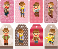 Cartoon cowboy card Royalty Free Stock Photos