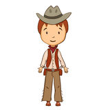 Cartoon cowboy character Stock Images