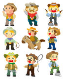 Cartoon cowboy icon Stock Photography