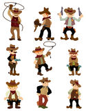Cartoon cowboy icon Stock Photos
