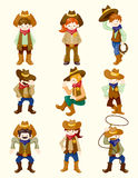 Cartoon cowboy icon Royalty Free Stock Photos