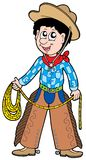 Cartoon cowboy with lasso Royalty Free Stock Photography