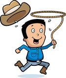 Cartoon Cowboy Lasso Stock Images