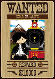 Cartoon Cowboy Poster Stock Image