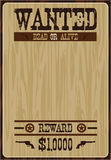 Cartoon Cowboy Poster. Vector Illustration of a Cartoon Wild West Cowboy Wanted Poster Royalty Free Stock Photos