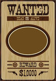 Cartoon Cowboy Poster. Vector Illustration of a Cartoon Wild West Cowboy Wanted Poster Royalty Free Stock Photo