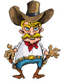 Cartoon cowboy with sixguns on his gun belt Royalty Free Stock Image