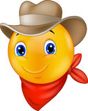 Cartoon Cowboy smiley emoticon Stock Photos