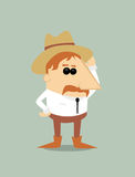Cartoon cowboy Royalty Free Stock Photo