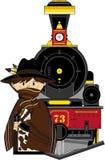 Cartoon Cowboy Royalty Free Stock Photography
