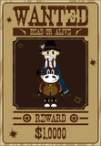Cartoon Cowboy Wanted Poster Stock Photography