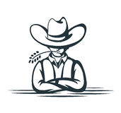 Cartoon cowboy Royalty Free Stock Image