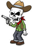 Cartoon cowboy zombie vector illustration
