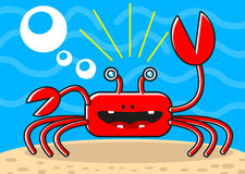 Cartoon crab Royalty Free Stock Photo