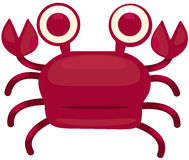 Cartoon crab Royalty Free Stock Images