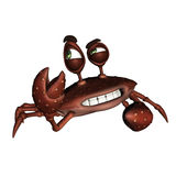 Cartoon Crab. 3D Cartoon Crab looking to oneside Royalty Free Stock Photography