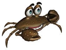 Cartoon Crab. 3D Cartoon Crab Looking Forward Royalty Free Stock Photo