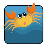 Cartoon Crab. A cute orange cartoon crab Royalty Free Stock Image