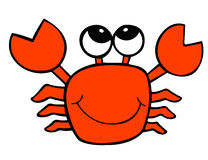 Cartoon crab Stock Photography