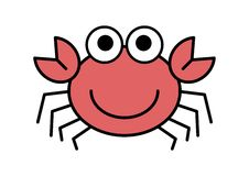 Cartoon Crab. Illustration of cartoon crab on white background vector illustration