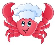 Cartoon crab chef Stock Photography