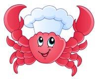 Cartoon crab chef Stock Photography