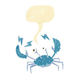 cartoon crab with speech bubble Stock Images