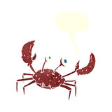 cartoon crab with speech bubble Royalty Free Stock Image