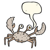cartoon crab with speech bubble Royalty Free Stock Images