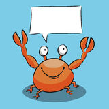 Cartoon Crab Speech Bubble Royalty Free Stock Image