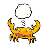 Cartoon crab with thought bubble Stock Images