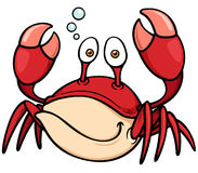 Cartoon Crab Stock Photo