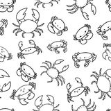 Cartoon crab. Vector seamless pattern. Endless texture can be used for wallpaper,printing on fabric, paper, scrapbooking Royalty Free Stock Photos