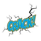 Cartoon crack. In pop art style royalty free illustration
