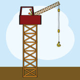 Cartoon crane Royalty Free Stock Photography