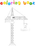 Cartoon crane. Coloring book for kids Royalty Free Stock Photography