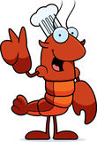 Cartoon Crawfish Chef Peace Royalty Free Stock Photography