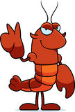 Cartoon Crawfish Peace Stock Image