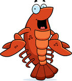 Cartoon Crawfish Smiling Royalty Free Stock Image