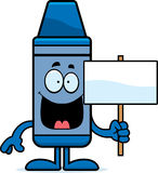 Cartoon Crayon Sign Stock Images