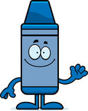 Cartoon Crayon Waving Royalty Free Stock Photography