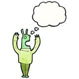 Cartoon crazy alien Stock Image