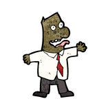 Cartoon crazy boss Royalty Free Stock Images