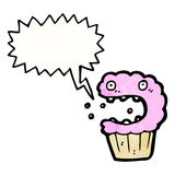 Cartoon crazy cupcake Royalty Free Stock Photos