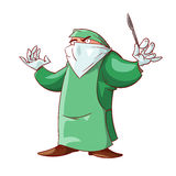 Cartoon crazy doctor Stock Photo