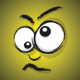 Cartoon crazy face stock illustration