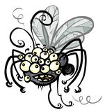Cartoon crazy Insect. Royalty Free Stock Images