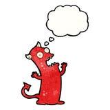 cartoon crazy little devil Royalty Free Stock Photo